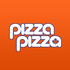 Orange pizza pizza logo