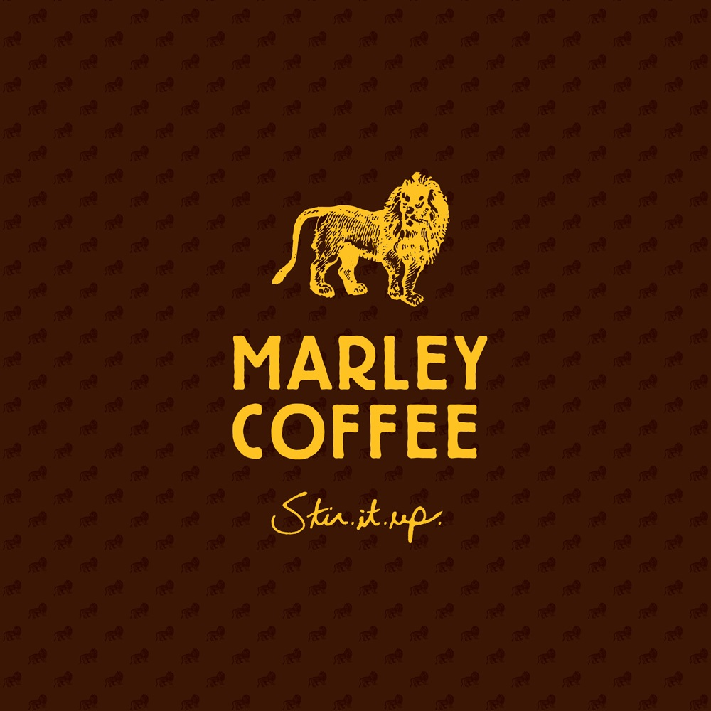 Logo for coffee company with lion mascot