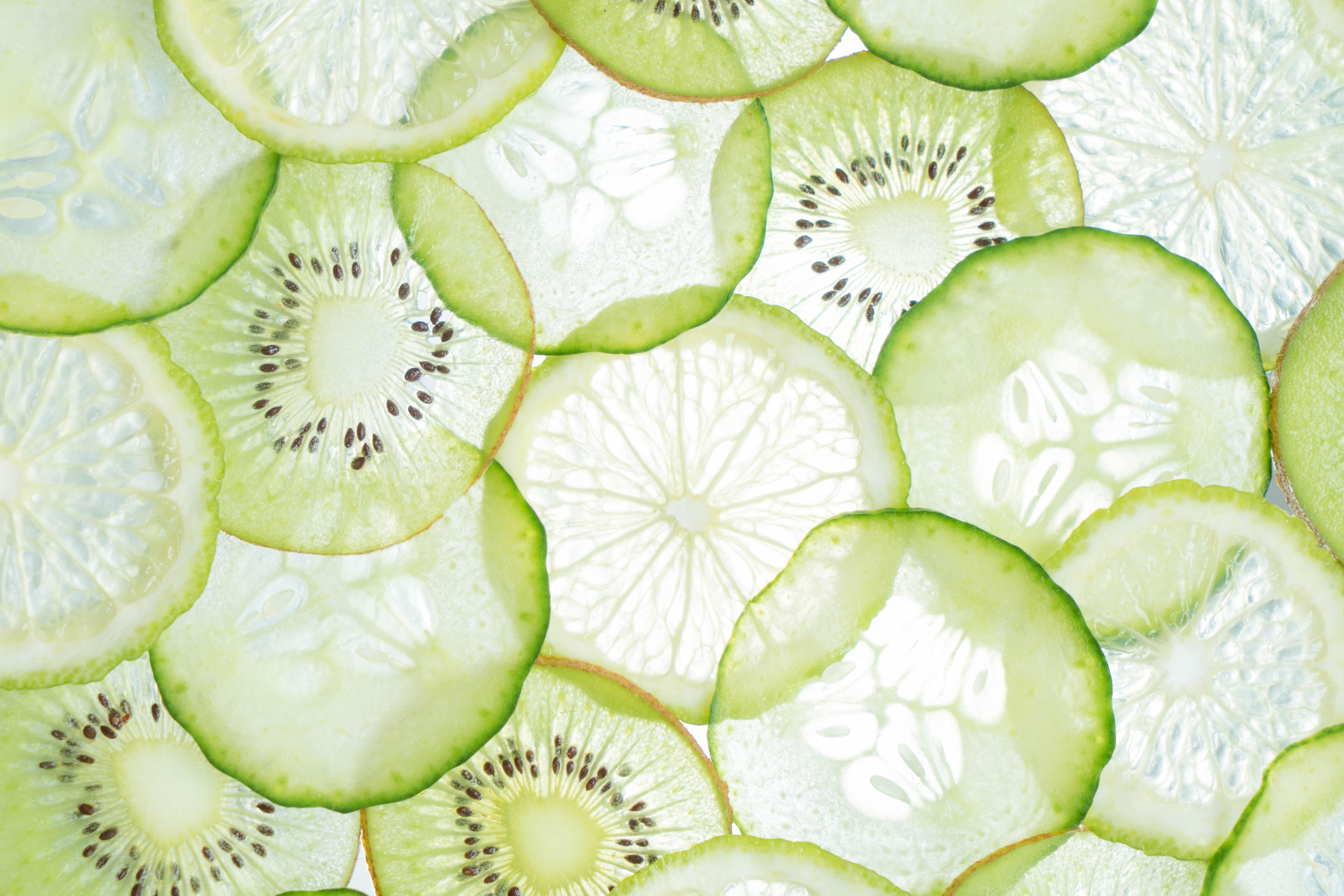 citrus fruit slices close up