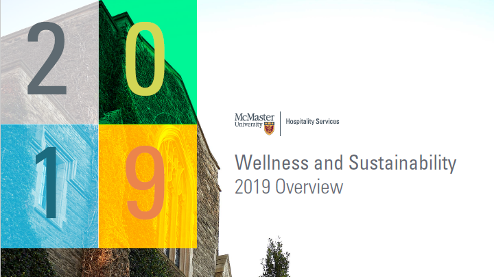 Cover Page of Wellness Systainability 2019 Overview